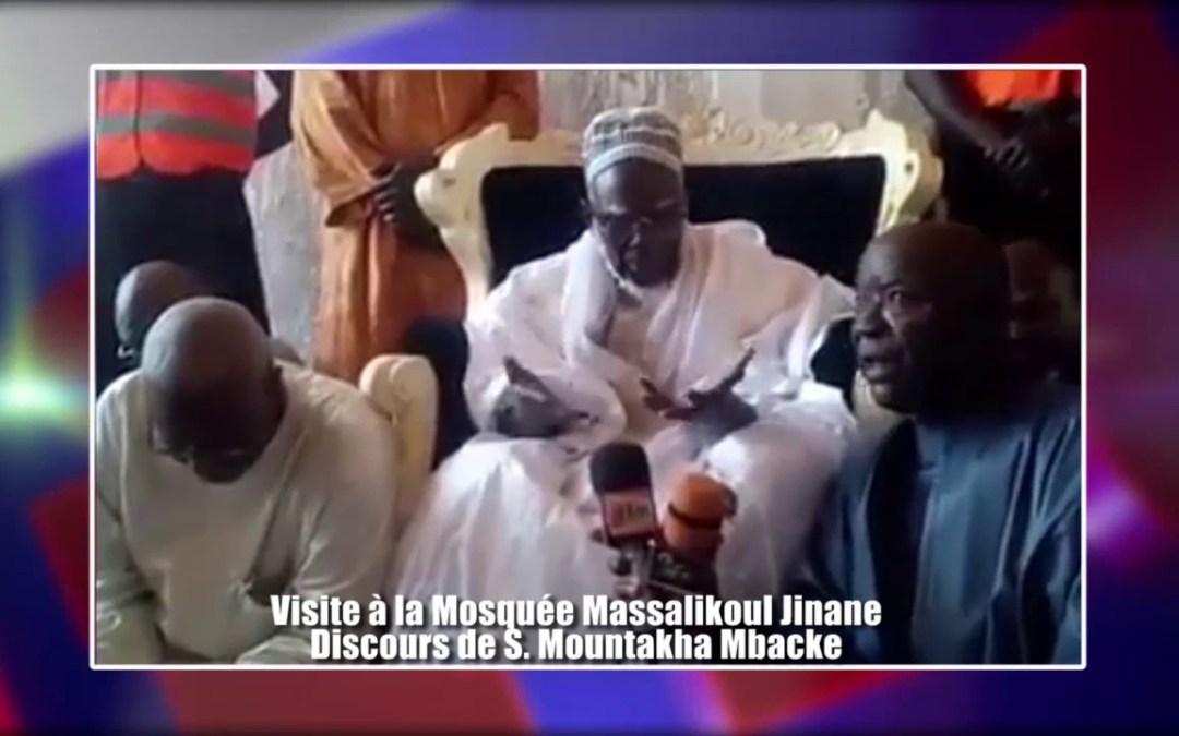 Emouvant discours de S Mountakha a la mosquee Massalikoul Jinane