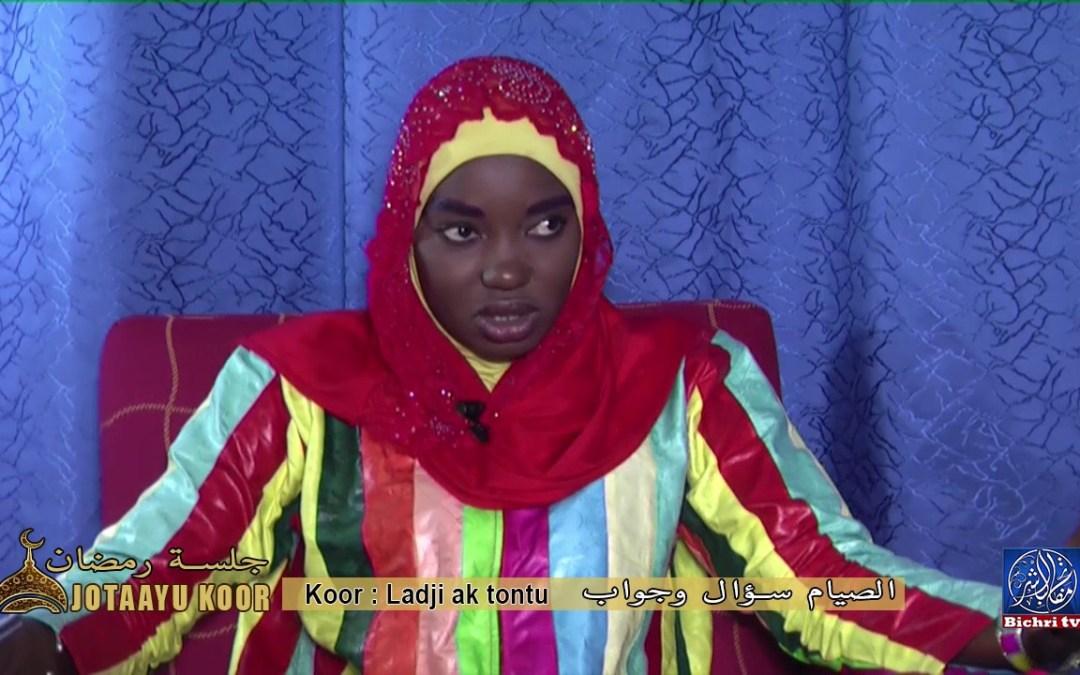 Jotaayu Koor, جلسة رمضان | Theme :ladj ak tontu الصيام سؤال وجواب sur bichri TV