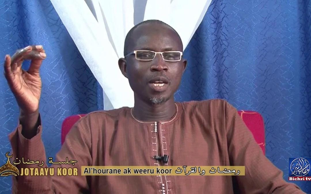 Jotaayu Koor, جلسة رمضان   Theme : Weeru koor ak al'hourane ,رمضان والقرآن sur bichri TV