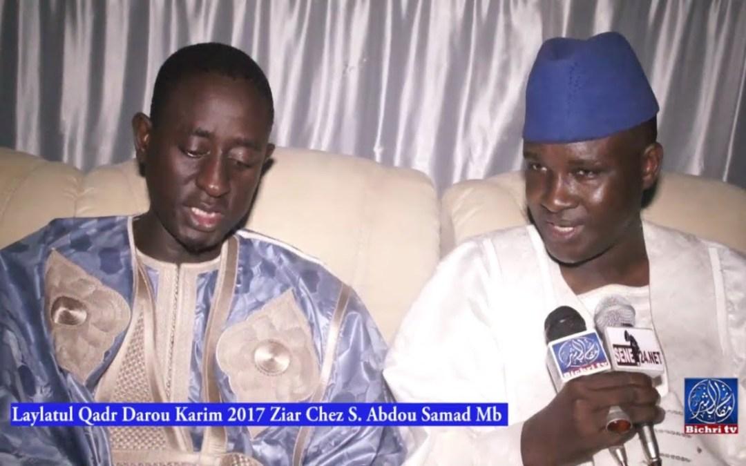 Laylatul Qadr Darou Karim 2017 Chez S  Abdou Samad Mb