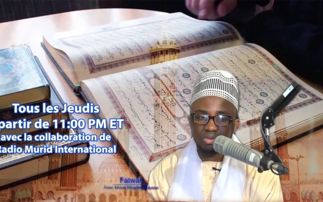 LIVE | Fatwah du Jeudi 08 Juin 2017 avec Imam Khadim Bousso