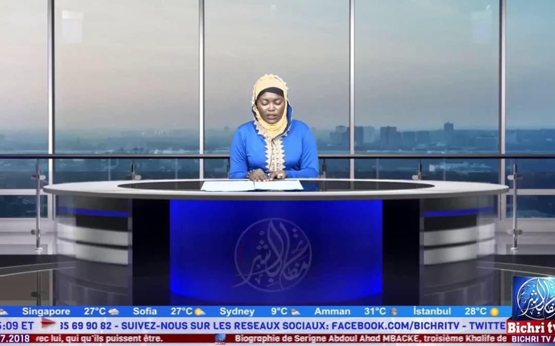 Flash Infos du Lundi 2 Julliet 2018 avec Sokhna Fatou Cisse
