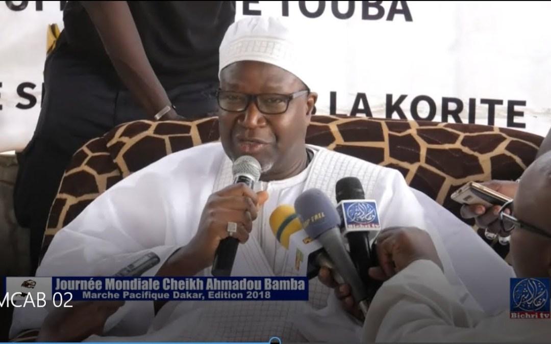 Journée Mondiale Cheikh Ahmadou Bamba ed. 2018   Marche pacifiqure, Rendre, grace à Serigne Touba 02