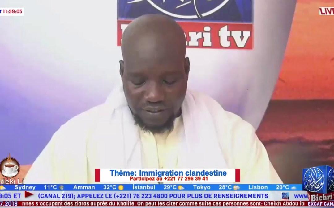 LIVE | Emission Matinale Ndeki li #234  | Thème : Immigration clandestine