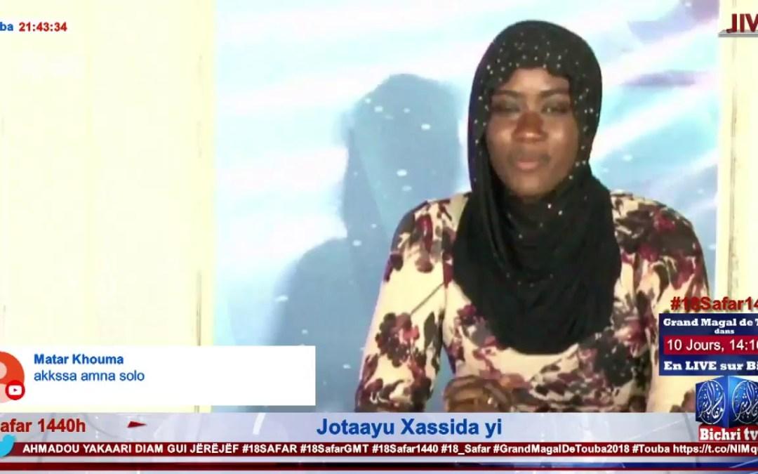 En Direct de Touba | Safar : Jotaayu Xassida yi avec Sokhna Astou Ndiaye invite S. Ousseynoou Thiam