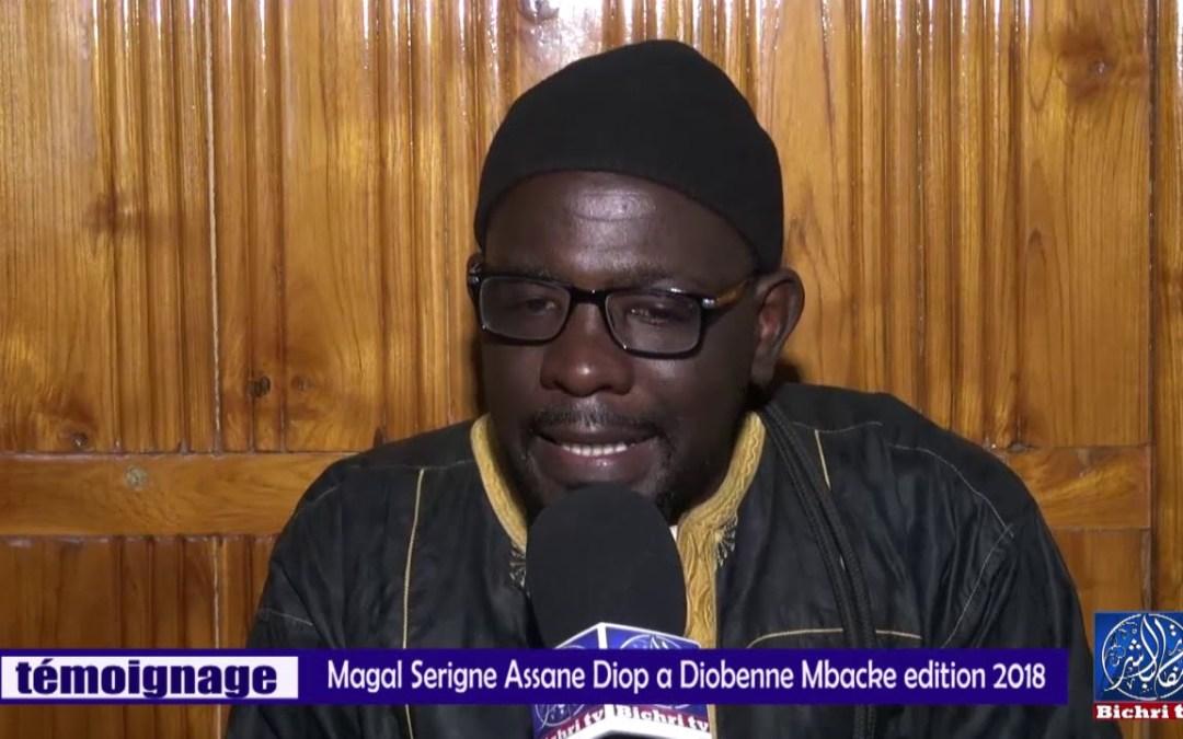 TEMOIGNAGE/Magal  serignei Assane  Diop Diobenne Mbacke Baol