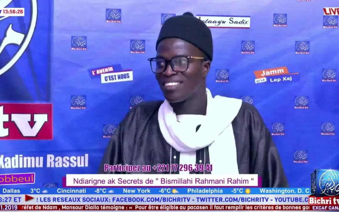 "LIVE | Emission Yobbel | Théme :  Ndiarignou  ak Secrets de "" Bismillahi Rahmani Rahim """