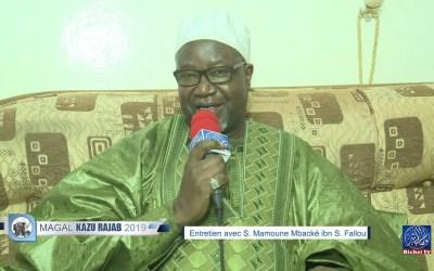 Magal Kazu Rajab 2019 | Entretien exclusive avec S. Mamoune Mbacké ibn S. Fallou