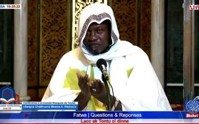 LIVE Conference à la Grande Mosquée de Touba I Jour 29 Ramadan 1441H/2020