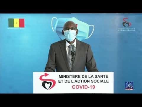 """Le point de situation du """"Coronavirus"""" au Sénégal -Lundi. 10 août"""