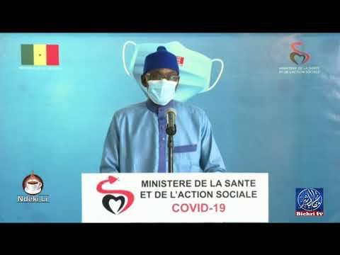 """Le point de situation du """"Coronavirus"""" au Sénégal Mercredi   12 août"""