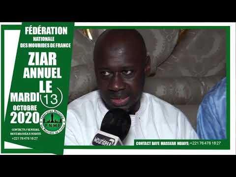 Appel Ziar 2020 de la  Fédération des Dahiras Mourides de la France auprès de Serigne Mountakha