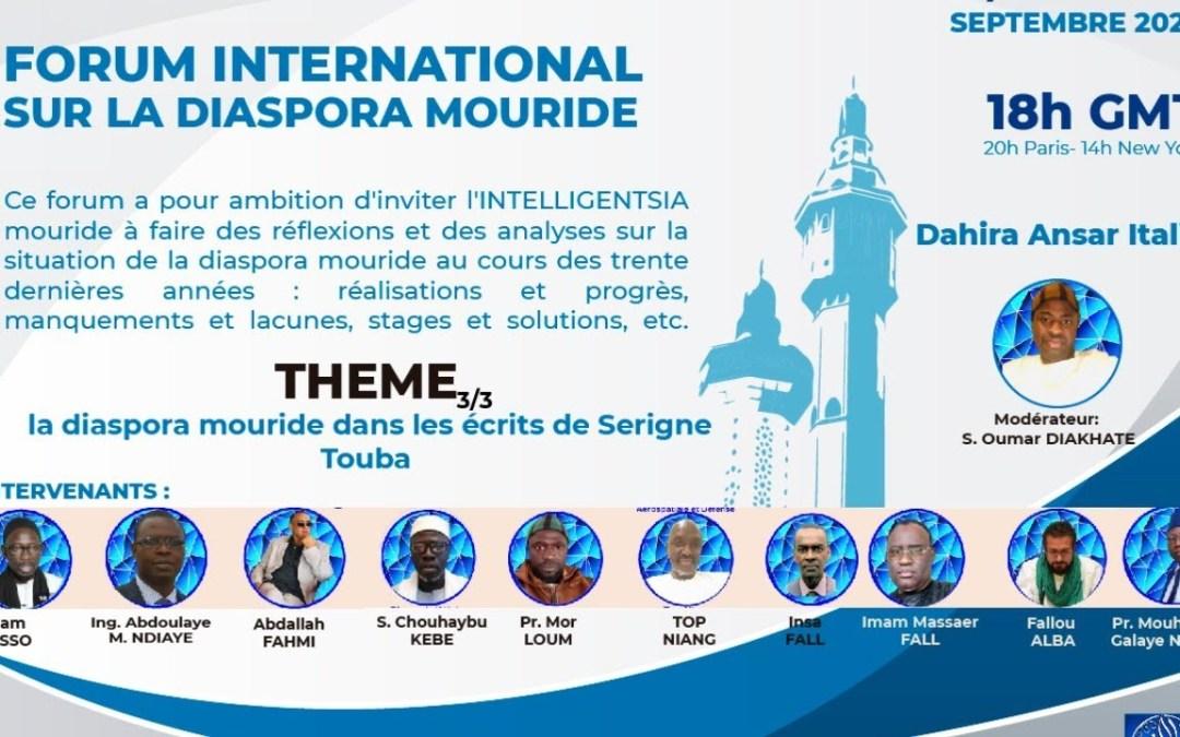 LIVE | Forum International sur la Diaspora Mouride | 3eme Journée | 13 Septembre 2020