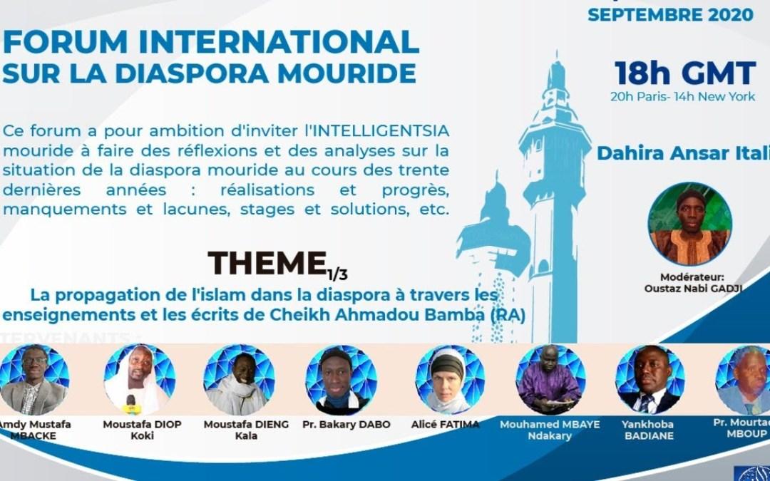 LIVE   Forum International sur la Diaspora Mouride   1ère Journée   11 Septembre 2020