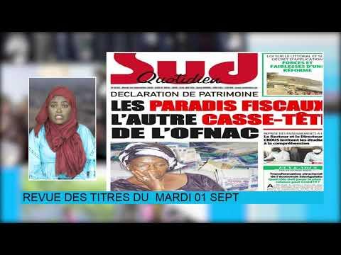 Revue de Presse Bichri tv avec soxna amina diane du Mardi 01 Sept