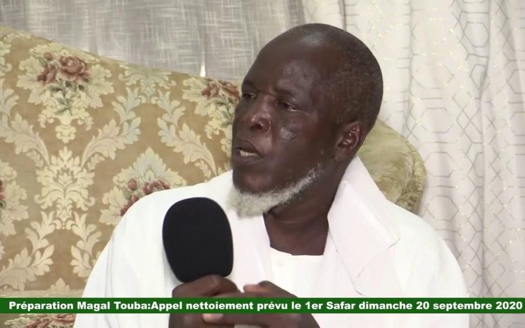 Urgent:  Préparation du Grand Magal de Touba Appel nettoiement prévu le 1er Safar 1442 h  2020