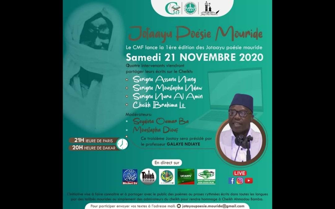 🛑 LIVE   Jotaayu Poésie Mouride du Samedi 21 Novembre 2020