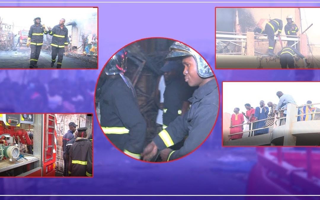No Comment!Les moments triste de l'incendie au marché Ocass Touba