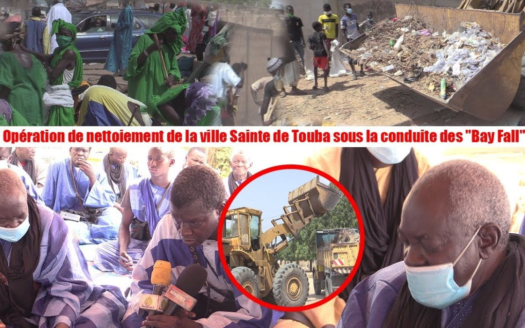 """Opération de nettoiement de la ville Sainte de Touba sous la conduite des """"Bay Fall"""""""