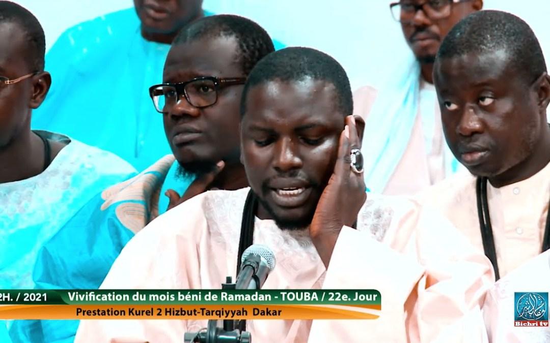 Lirabine qhaforine  Kourel 2 Hizbut Tarqiyyah Dakar   21e. jour Ramadan 2021 / 1442h
