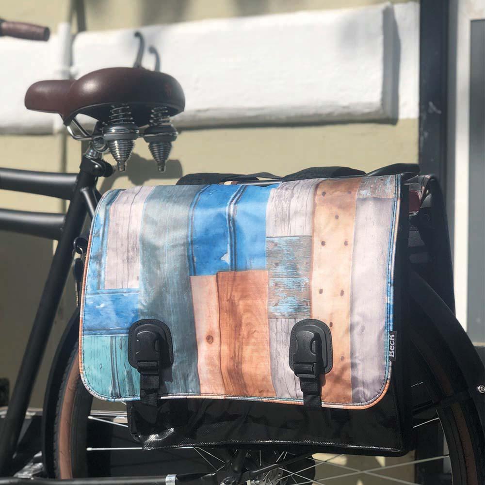 Alforjas bicicleta Classic – Madera flotante (negro, verde, azul, marrón) – Beck