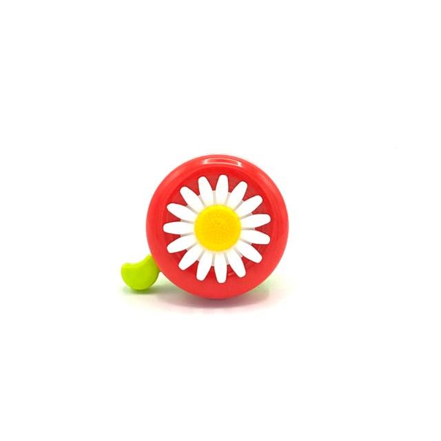 Timbre de bici – rojo con una Margarita