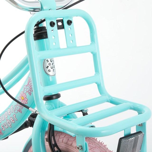 Bicicleta Lola - 16 pulgadas – azul claro con detalles en rosa – Super Super 4