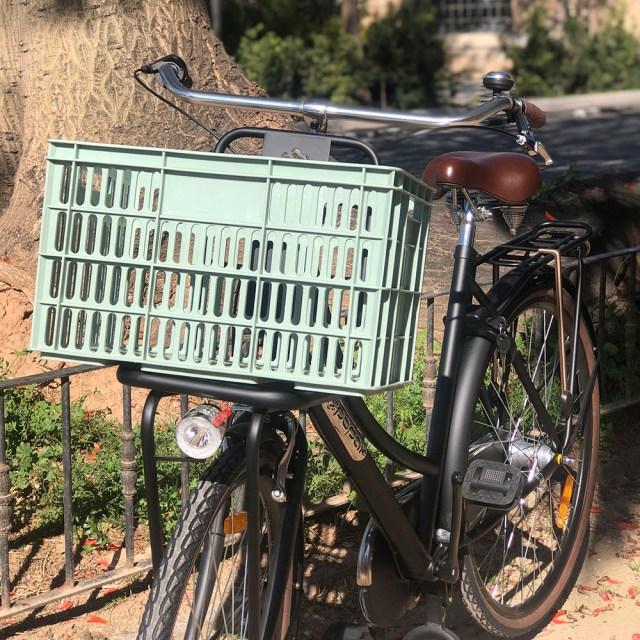Caja de bicicleta – verde menta – 33,6 litros – Amigo
