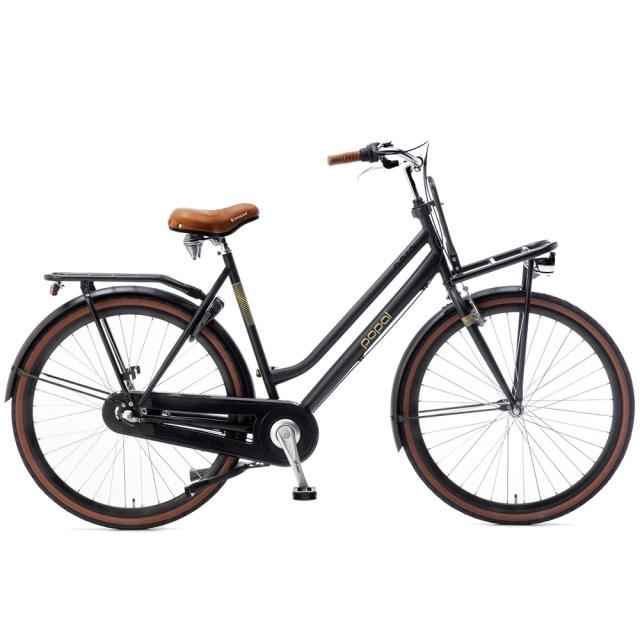 La Bicicleta holandesa Nera dinamo de buje – 28 pulgadas – negro– Popal tiene un diseño ideal para el escenario urbano
