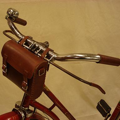 Puños de cuero para manillar de bicicleta antigua y clasica