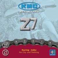 Cadena KMC Z-7 116 eslabones, 7,3 mm, 5v., 6v., 7v.