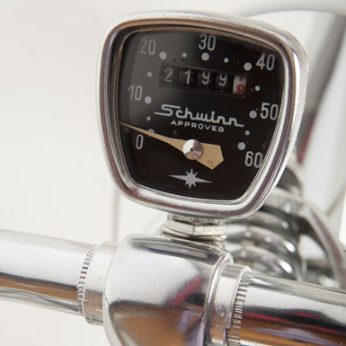 Bicicleta Schwinn Corvette años ´50 sillin velocimetro