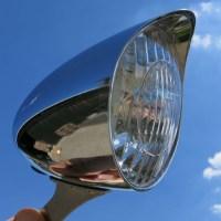 Faro-LED-para-dinamo-visera-cromado-bicicleta-antigua-clasica