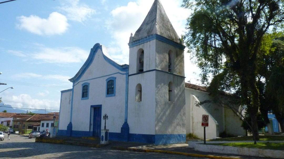 Igreja de Cananéia, com fundações que datam de 1500. Uma das construções mais antigas do Brasil.