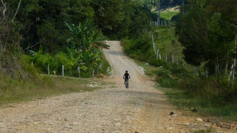 No acesso a trilha, o nível de dificuldade é quase zero