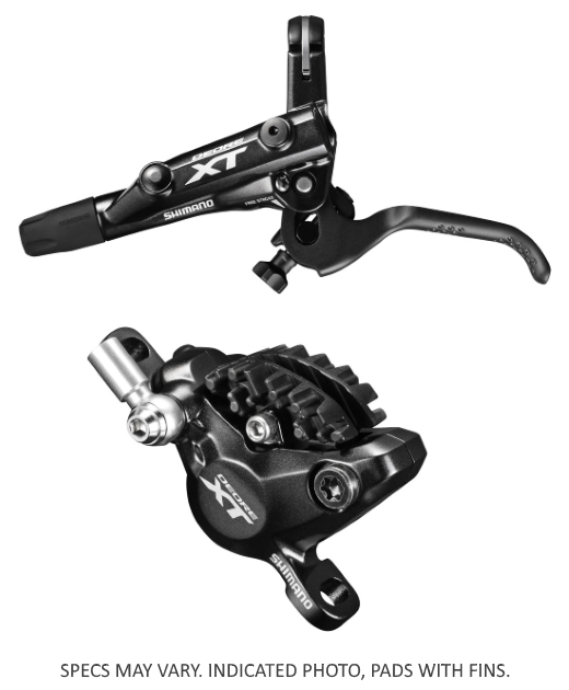 KOČNICA SHIMANO DEORE XT BL-M8000(L) BR-M8000(F), HIDRAULIČNA, W/O ADAPTER, RESIN PAD W/O FIN, HOSE SM-BH90-SBM 1000MM BLACK, ADD. OLIVE & CONNECTING INSERT, IND.PACK