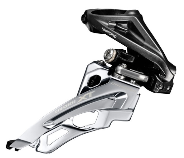 MENJAČ PREDNJI SHIMANO DEORE XT FD-M8000-H, TRIPLE, FOR 3X11, HIGH CLAMP, SIDE SWING, FRONT PULL, BAND TYPE 34.9MM (INCL. ADAPTOR 28.6 & 31.8MM), CS ANGLE 66-69, IND.PACK