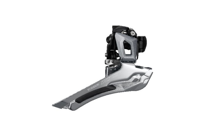 MENJAČ PREDNJI SHIMANO 105 FD-R7000-S, ZA 11 BRZINA, DOWN-SWING, 34.9MM BAND, CS-ANGLE 61-66, ZA TOP GEAR 46-53T, CL 43.5MM, SIVI, IND.PACK