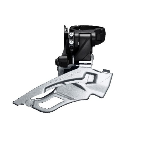 MENJAČ PREDNJI SHIMANO DEORE FD-T6000-H-3, TRIPLE, FOR REAR 10 BRZINA, HIGH CLAMP, DOWN SWING, DUAL PULL, BAND TYPE 34.9MM (INCL. ADAPTOR 28.6MM & 31.8MM), CS ANGLE 63-66, FOR TOP CHAINRING 44-48T, BLACK, IND.PACK