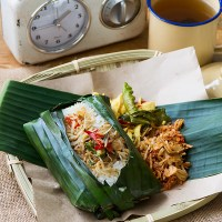 Nasi Bakar Teri - Grilled Salted Fish Rice