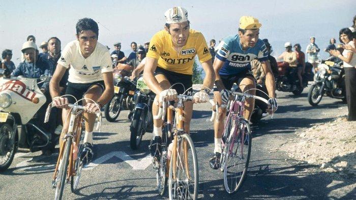Eddy Merckx in maglia gialla al Tour de France del 1972