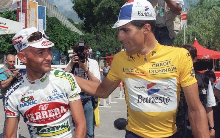 Marco Pantani e Miguel Indurain al Tour de France
