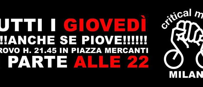 Logo del Critical Mass di Milano (Facebook)