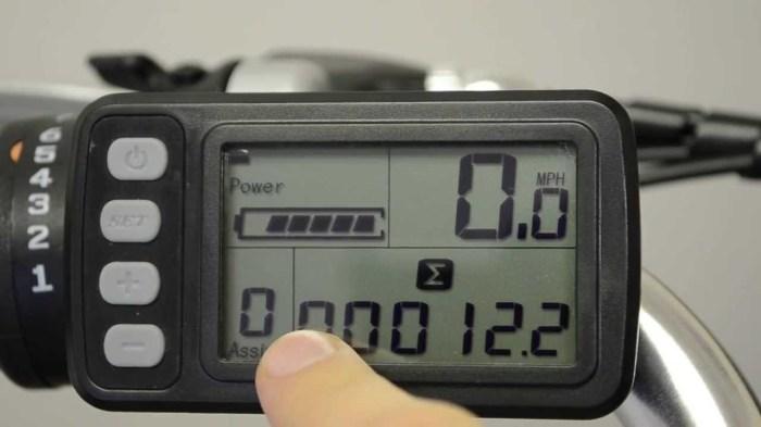 Modello di display presente su una bicicletta elettrica (YouTube).