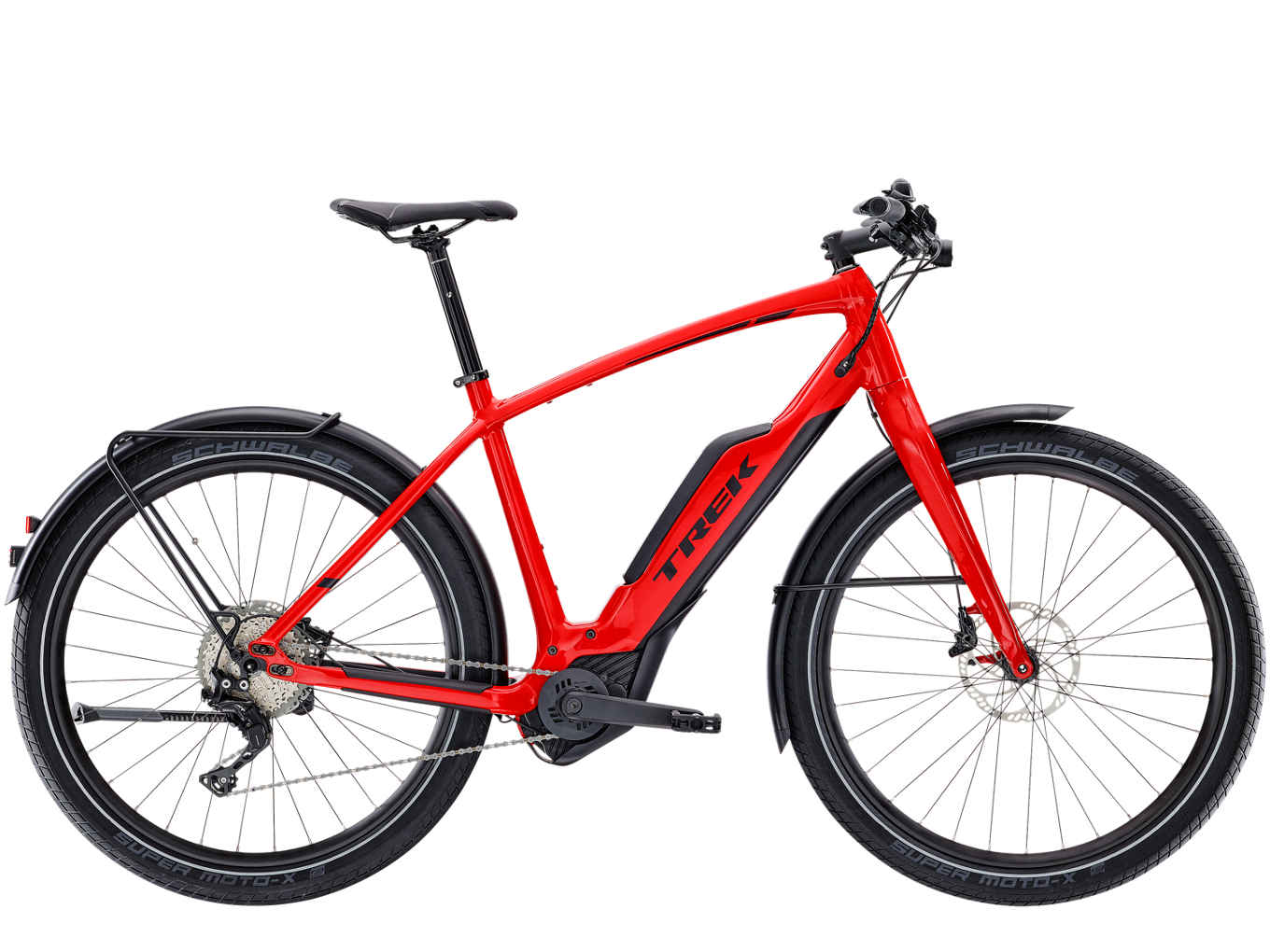 La urban ebike Trek Super Commuter+ 8 (trekbikes)