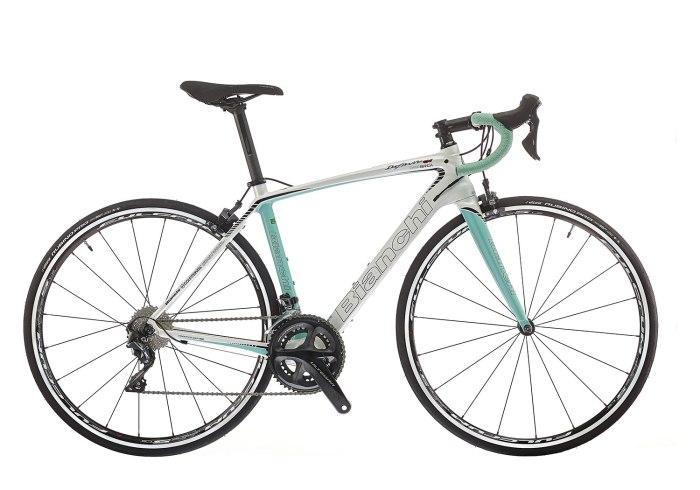 Bici corsa da donna Bianchi Infinito Cv Dama Bianca (bianchi.com)