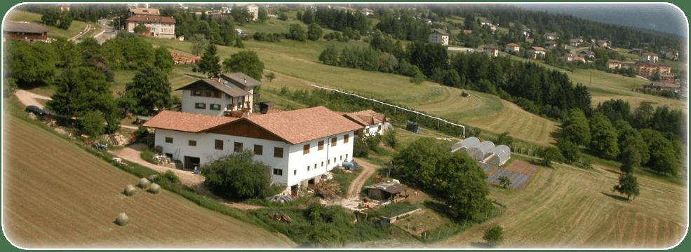 Vista dall'alto dell'azienda agricola Calliari a Malosco (aziendaagricolacalliari.com)