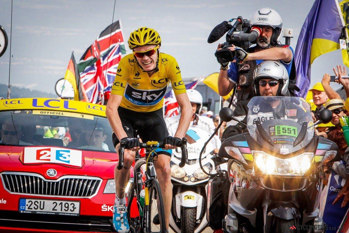 Chris Froome in azione sul Mont Ventoux