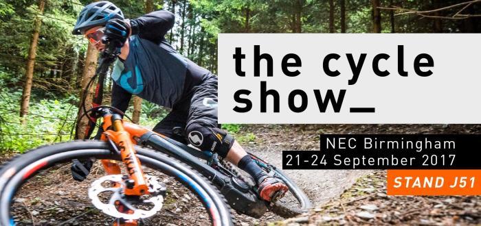 """Cartolina dall'edizione 2017 di """"The Cycle Show"""" a Birmingham da parte di un brand espositore"""