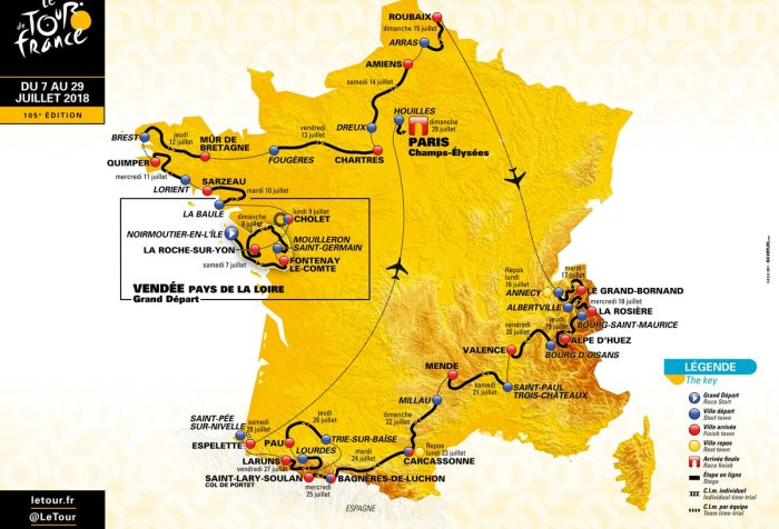 Percorso Tour de France 2018 (letour.fr)
